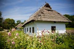 Tradycyjny drewniany dom Zdjęcia Stock