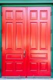 Tradycyjny drewniany drzwi zdjęcia royalty free