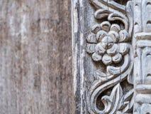 Tradycyjny drewniany rzeźbiący drzwi w Kamiennym miasteczku, Zanzibar Zdjęcie Royalty Free