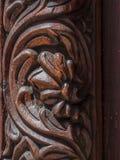 Tradycyjny drewniany rzeźbiący drzwi w Kamiennym miasteczku, Zanzibar Obrazy Royalty Free