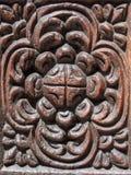 Tradycyjny drewniany rzeźbiący drzwi w Kamiennym miasteczku, Zanzibar Obraz Royalty Free