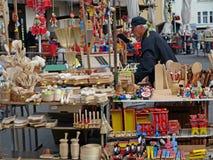 Tradycyjny drewniany rzemiosło dla sprzedaż Targowego dnia fotografia stock