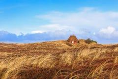 Tradycyjny duński dom w diunach obrazy stock