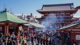 Tradycyjny dym w świątyniach zdjęcie stock