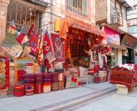 Tradycyjny Dywanowy sklep w Isfahan: Iran Fotografia Stock