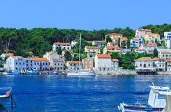 Tradycyjny europejski Śródziemnomorski architektoniczny styl, ulicy Obrazy Stock