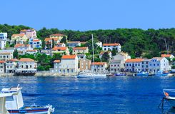 Tradycyjny europejski Śródziemnomorski architektoniczny styl, ulicy Fotografia Stock