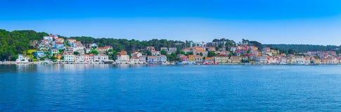 Tradycyjny europejski Śródziemnomorski architektoniczny styl, ulicy Zdjęcia Royalty Free
