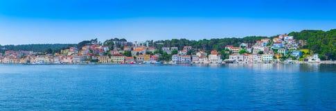 Tradycyjny europejski Śródziemnomorski architektoniczny styl, ulicy Obrazy Royalty Free