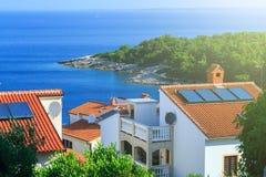 Tradycyjny europejski Śródziemnomorski architektoniczny styl, ulicy Fotografia Royalty Free