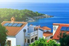 Tradycyjny europejski Śródziemnomorski architektoniczny styl, ulicy Zdjęcie Royalty Free