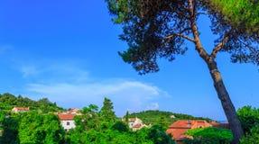 Tradycyjny europejski Śródziemnomorski architektoniczny styl, ulicy Obraz Royalty Free