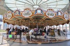 Tradycyjny fairground Jane carousel w Brooklyn Zdjęcie Stock