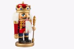 Tradycyjny figurek bożych narodzeń dziadek do orzechów być ubranym Obrazy Royalty Free