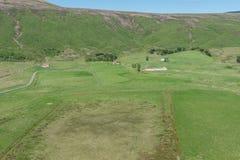 Tradycyjny gospodarstwo rolne w wschodzie Iceland fotografia royalty free
