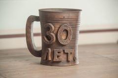 Tradycyjny handcrafted kubek Zdjęcie Stock