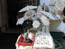 Tradycyjny handmade parasol koronką Fotografia Royalty Free