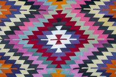 Tradycyjny handmade Turecki dywan obraz stock