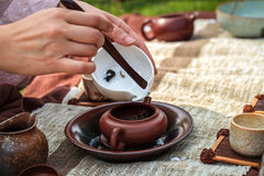 Tradycyjny herbacianej ceremonii zbliżenie Zdjęcia Stock