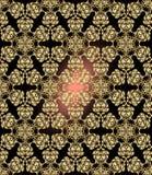 Tradycyjny hindusa styl, ornamentacyjni kwieciści elementy Wektorowa ilustracja złotego mehndi bezszwowy wzór ilustracji