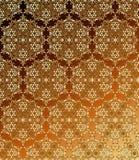 Tradycyjny hindusa styl, ornamentacyjni kwieciści elementy Wektorowa ilustracja złotego mehndi bezszwowy wzór royalty ilustracja