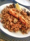 Tradycyjny hiszpański owoce morza paella obrazy royalty free