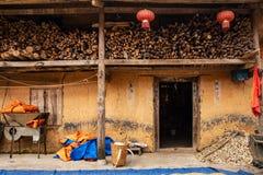Tradycyjny hmong dom w brzęczenia Giang prowincji, Północny Wietnam obraz royalty free