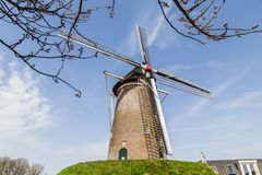 Tradycyjny holender Widnmill obrazy royalty free