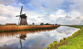Tradycyjny Holenderski wiatraczek Fotografia Royalty Free