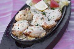 Tradycyjny indyjski karmowy kurczaka malai tikka piec na grillu kurczaka brea Fotografia Royalty Free