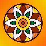 Tradycyjny indyjski ornamentu rangoli dla Onam lub Diwali festiwalu kartka z pozdrowieniami Obraz Stock
