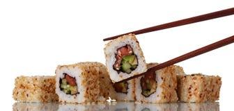 Tradycyjny Japoński naczynie ryż i owoce morza odizolowywający na bielu Obraz Stock