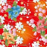 tradycyjny japończyka kwiecisty wzór Zdjęcie Royalty Free