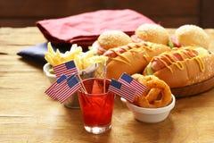 Tradycyjny jedzenie dla świętowania Lipiec 4 Zdjęcia Royalty Free
