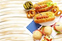 Tradycyjny jedzenie dla świętowania Lipiec 4 Zdjęcie Stock