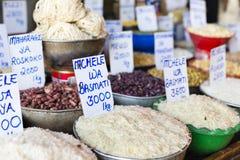 Tradycyjny jedzenie rynek w Zanzibar, Afryka Zdjęcia Stock