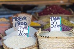 Tradycyjny jedzenie rynek w Zanzibar, Afryka Obraz Royalty Free