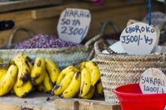 Tradycyjny jedzenie rynek w Zanzibar, Afryka Obraz Stock