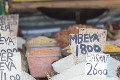 Tradycyjny jedzenie rynek w Zanzibar, Afryka Fotografia Royalty Free