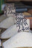 Tradycyjny jedzenie rynek w Zanzibar, Afryka Zdjęcia Royalty Free