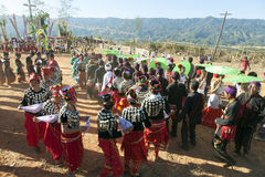 Tradycyjny Jingpo taniec Zdjęcia Royalty Free