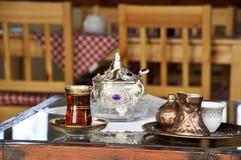 Tradycyjny kawa set obraz royalty free