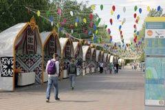 Tradycyjny kazach rynek w Astana Kazachstan centrum miasta Obrazy Royalty Free