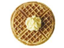 Tradycyjny klasyczny Belgium amerykański gofr z masłem i mapl Zdjęcie Stock