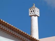 Tradycyjny komin na housetop w Portugalia zdjęcie royalty free