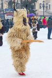 Tradycyjny Kuker kostiumowy festiwal w Bułgaria Fotografia Royalty Free