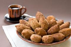 tradycyjny kulebiaka arabski mięsny talerz Fotografia Royalty Free