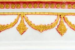 Tradycyjny kwiecisty ornament na świątynnej ścianie Obrazy Stock