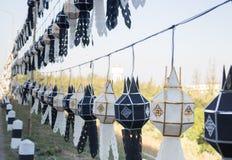 Tradycyjny latarniowy Tajlandzki lanna północny Tajlandia koloru czerń Fotografia Stock