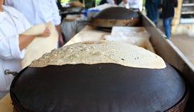 Tradycyjny Libański Płaski chleb Zdjęcie Stock